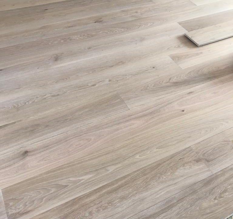 Eiken Duoplank Trap Verlijmd